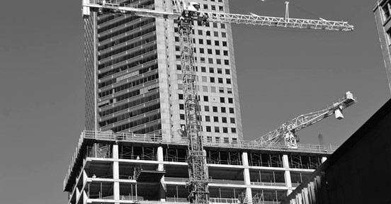 construction of a skyscraper