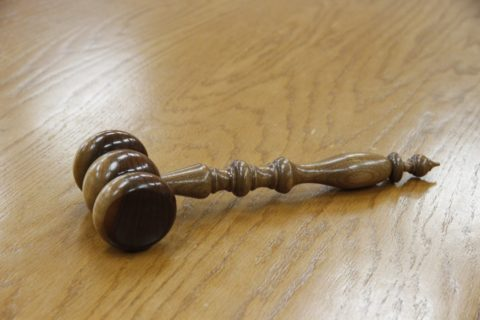 gavel kept on the desk