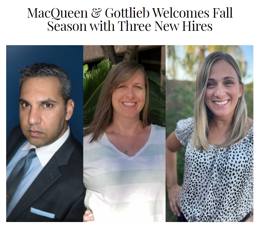 Attorney at Law Magazine Shares News on M&G's 3 Newest Hires